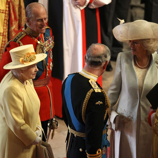 "Prince Charles and Camilla arrived at the church together. As the entered the Abbey Charles asked Camilla, ""Are you OK?"" She said she was fine and then of Westminster, ""It all looks very posh."""