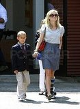 Reese Witherspoon Steps Out With a Foot Injury For Mother's Day With Her Kids and Jim