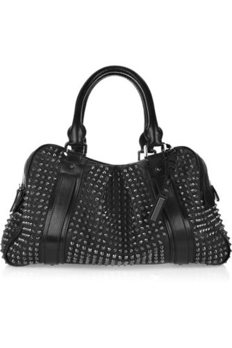 Burberry - Studded leather Knight bag