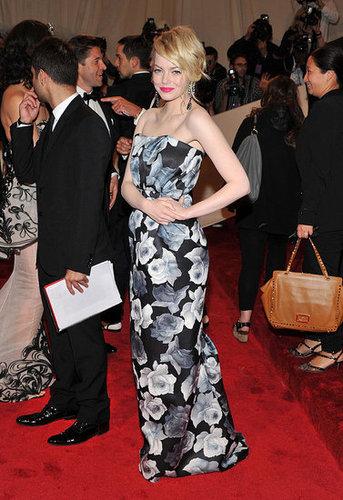 Emma Stone in custom Lanvin