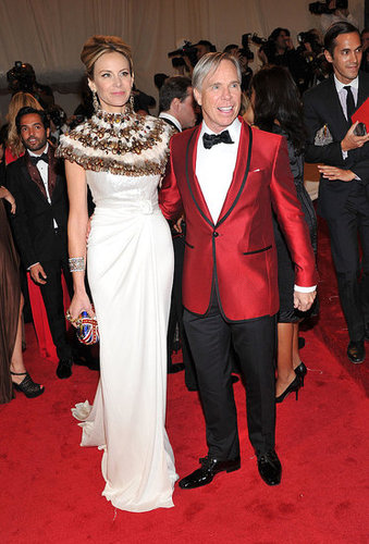 Dee and Tommy Hilfiger, both in his designs