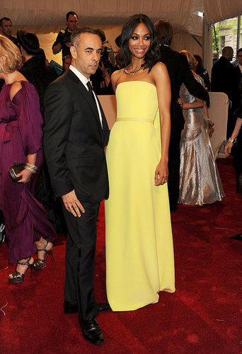 Francisco Costa and Zoe Saldana in Calvin Klein