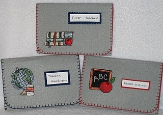 Giftcard Holders for Teachers