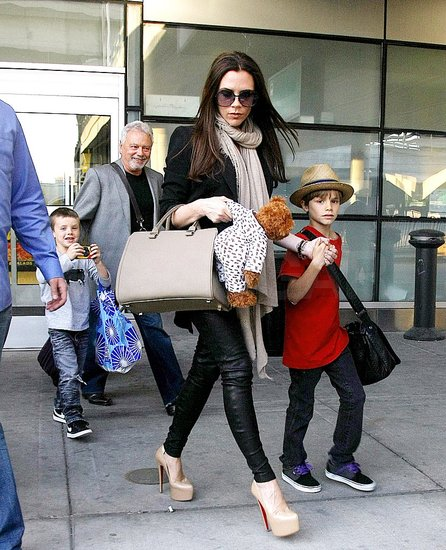 Victoria Beckham and Her Boys Return to LA From Royal Wedding Weekend