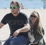 Jessica Simpson and Eric Johnson Hop On a Bicycle Built For Two