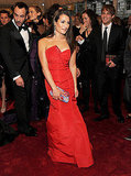 The Glee Girls Lea and Dianna Get Red Hot For Met Gala