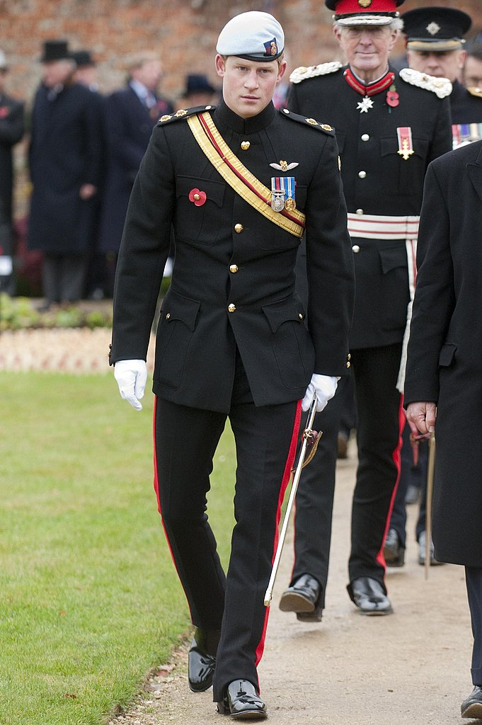 Harry met military personnel taking part in the British Legion March For Honour in November 2010.