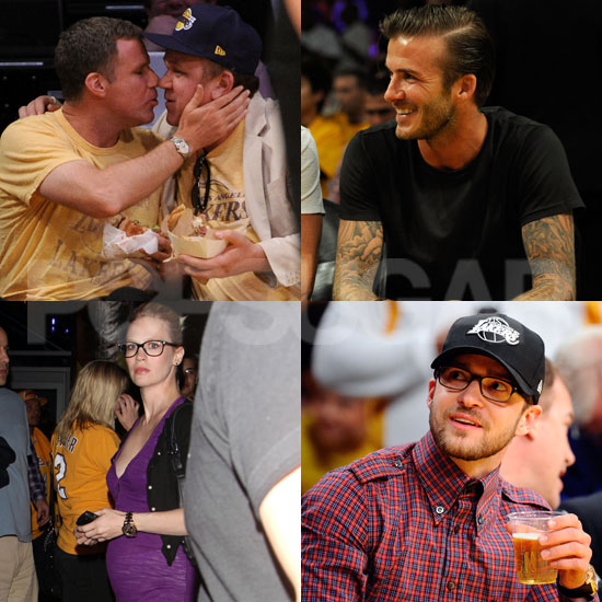 David Rings In 36 and Cheers On the Lakers With Justin, Pregnant January, and Best Buds Will and John