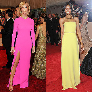 Zoe Saldana and Brooklyn Decker at the Met Gala