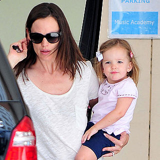 Jennifer Garner and Seraphina Picking Violet Affleck Up From School
