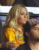 Carrie Underwood Cheers and Yawns During a Hockey Game With Fellow Fans Nicole and Keith