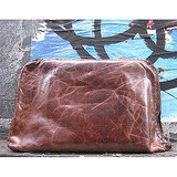 Leather Envelope Laptop Clutch ($149)