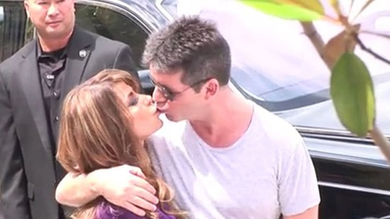 Video: Simon Cowell and Paula Abdul Reunite For X Factor With a Kiss on the Lips!