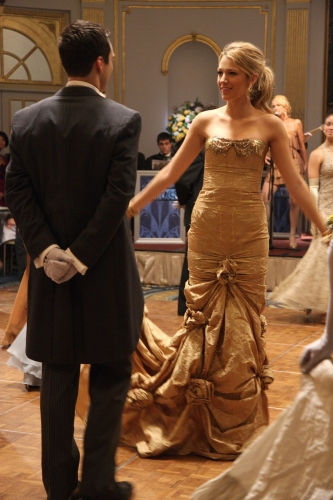 Gossip Girl Flashback: See Serena in Her Gold Cotillion Dress