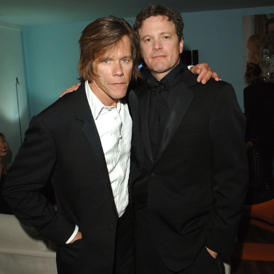 Kevin Bacon and Colin Firth got together during a 2005 afterparty for Where the Truth Lies.