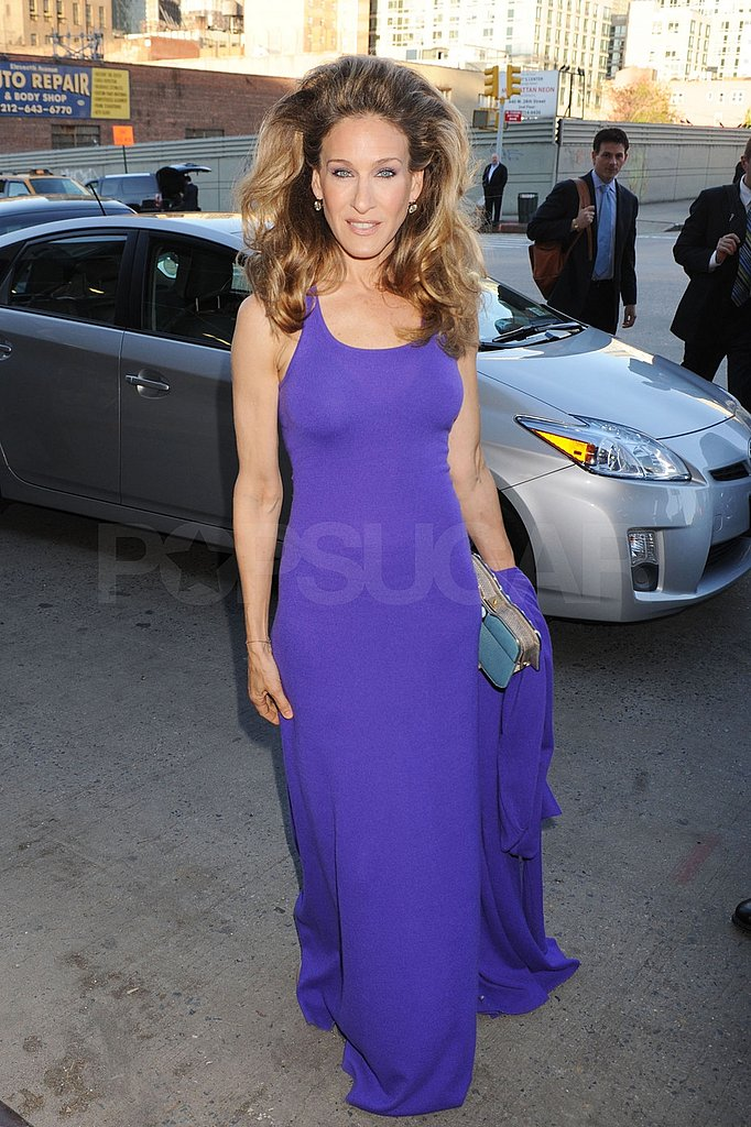 Sarah Jessica Pumps Up the Volume in Purple For a Philanthropic Night Out