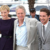Carey Mulligan, Michael Douglas, and Shia LaBeouf were all smiles while promoting Money Never Sleeps in 2011.