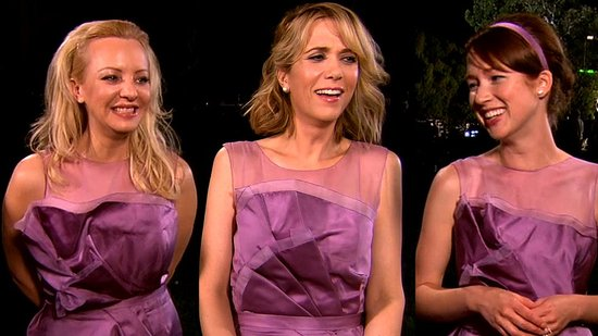 The Bridesmaids Cast Talks Bad Wedding Wear and Their Awkward Strip Club Visit