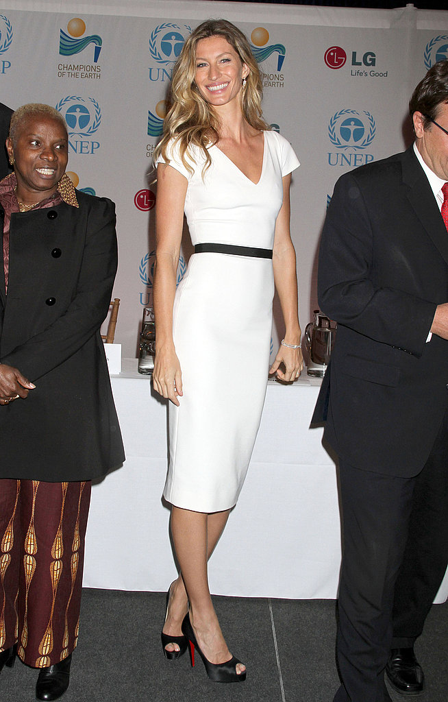 Gisele Bundchen Presents Don Cheadle With an Environmental Challenge