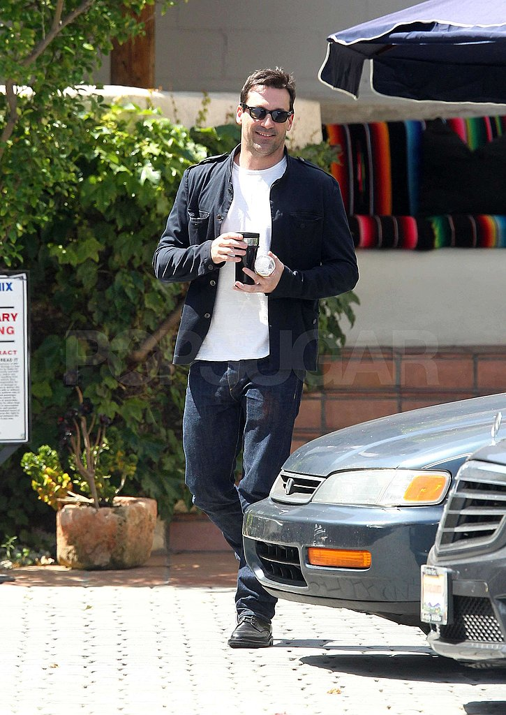 Jon Hamm Takes a Coffee Break as He Preps For a Wedding Weekend