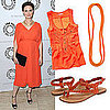 Emily Deschanel in Orange H&amp;M Dress: Shop Orange Pieces Under $100