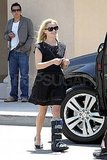 Reese Witherspoon Doesn't Let Her Walking Cast Slow Her Down