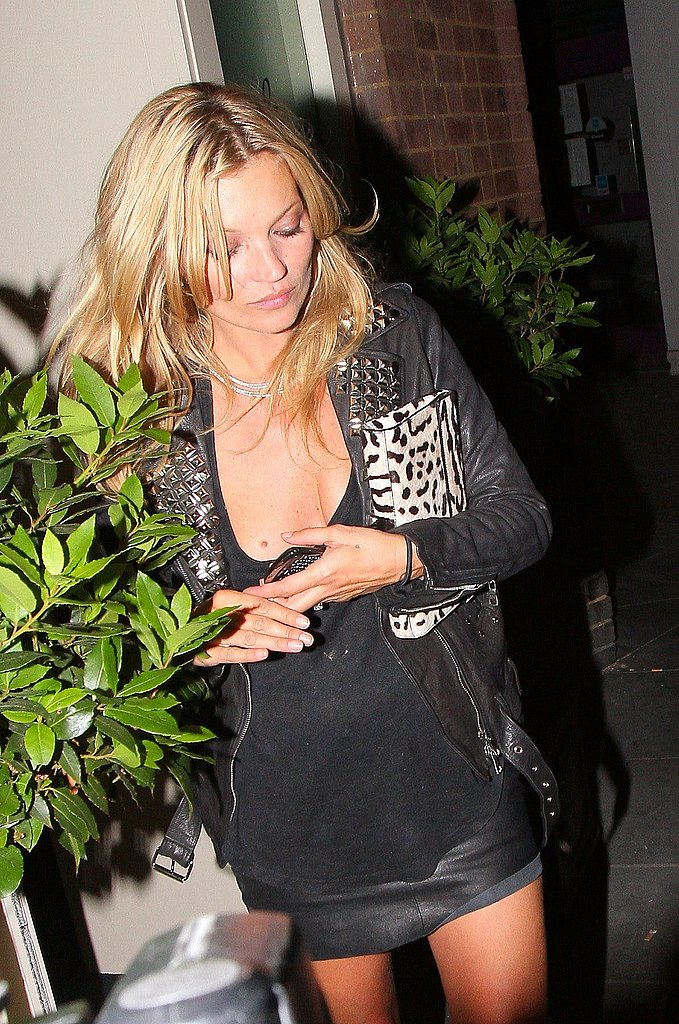 Kate Moss Goes Short and Studded For a Secret Gaga Show