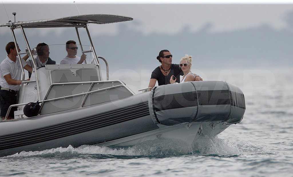 Gwen Stefani Slips Into a Bikini to Watch Gavin and Kingston Jet Ski at Cannes