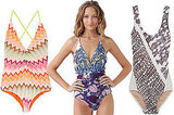Print One-Piece Swimsuits