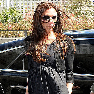 Pregnant Victoria Beckham Flies Out of LAX