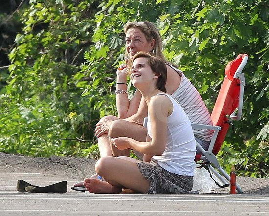 Emma Watson Hits the Pavement on a Break From Filming Her Latest Project
