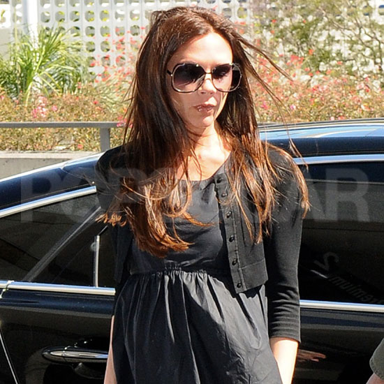 Victoria Beckham Fashionably Leaves Town and Her New Dog, Scarlett