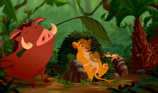 Timon and Pumbaa, Sloth