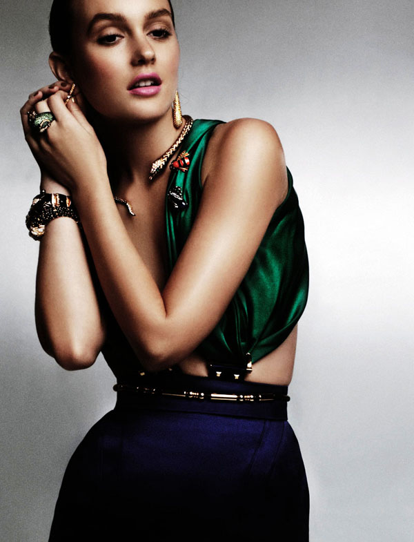 Leighton Meester Models in L'Officiel