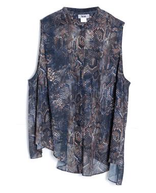 Acne Shimmer Snake Oversized Tank Shirt ($350)