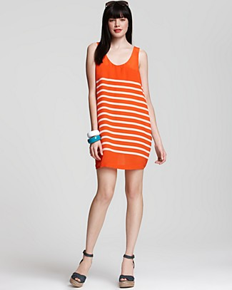 We love the punchy citrus hue and casual cut. Joie Trudy Dress ($198)