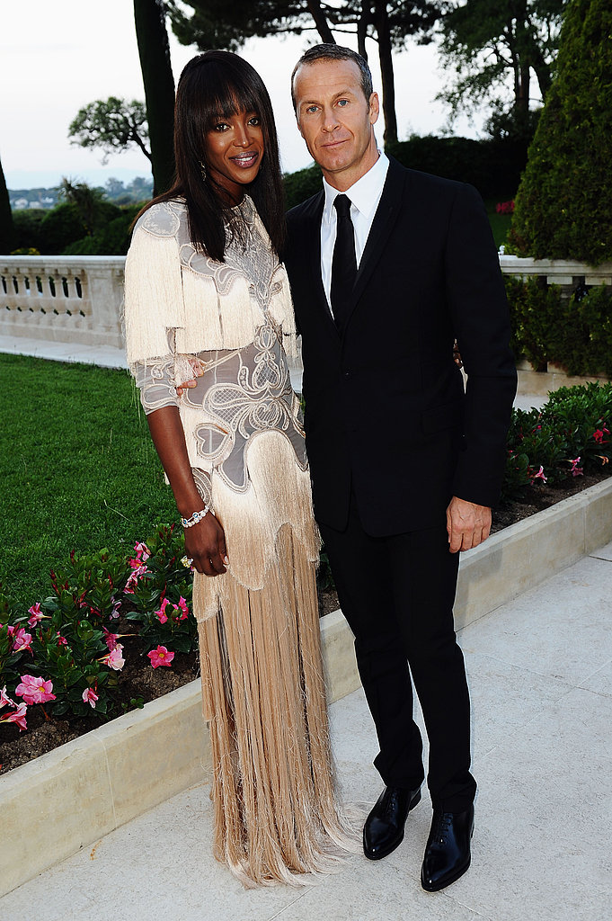 Naomi Campbell in Givenchy couture and Vladimir Doronin