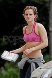Emma Watson Throws on a Sports Bra For a Pittsburgh Jog
