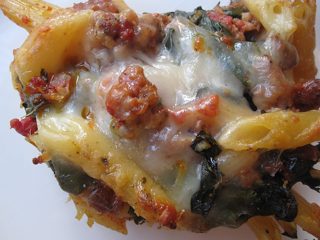 Sausage and Chard Baked Pasta