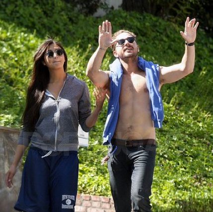 Shia LaBeouf Goes Shirtless For a Walk With His Girlfriend