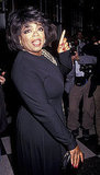 Oprah attended a party honoring Barbara Walters in 1992.