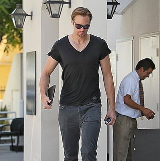 Alexander Skarsgard Leaving Giorgio Armani in Beverly Hills
