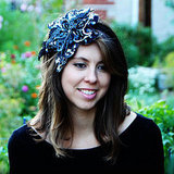 Sequin Black and Silver Flower Elastic Fascinator ($60)