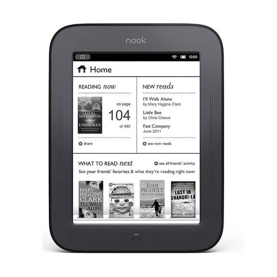 Barnes & Noble Announces the Nook Simple Touch Reader
