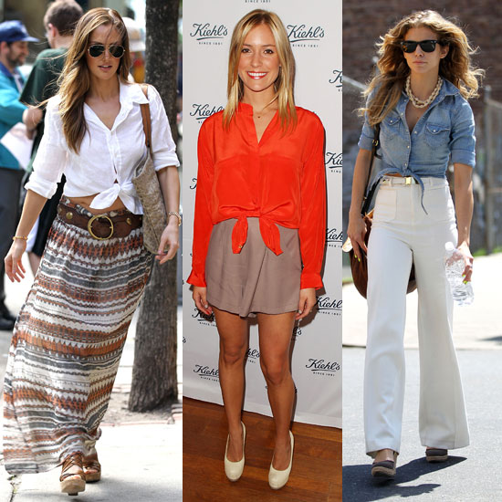 Celeb Trend: Styling Out Knotted Tops For Summer