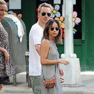Michael Fassbender Pictures With Girlfriend Zoe Kravitz