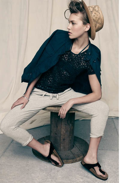 Arizona Muse Poses in New Neutrals For Madewell