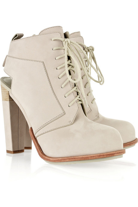 The ideal warm weather bootie in a cool stone hue.  Alexander Wang Dakota Booties ($325, originally $650)