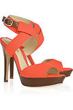 A bright orange hue in a sleek Summer silhouette.  Alexandre Birman Canvas Wrap Sandals ($285, originally $475)