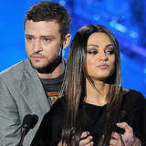 Justin Timberlake Fondling Mila Kunis at MTV Movie Awards Pictures